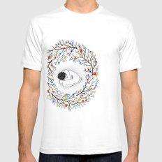 Womb White Mens Fitted Tee SMALL