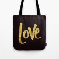 Love Handwritten Type Tote Bag