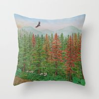 A Day Of Forest(8). (con… Throw Pillow