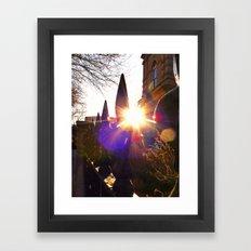 'Urban Sunburst' Framed Art Print