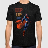Superman 2 Mens Fitted Tee Tri-Black SMALL