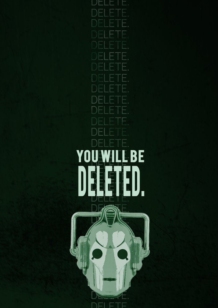 Doctor Who Cybermen Print Art Print By Neobie Gonzalez