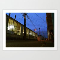 Art Print featuring Alleyway view by Vorona Photography
