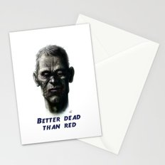 Better dead than red Stationery Cards