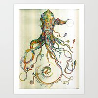 sea Art Prints featuring The Impossible Specimen by Will Santino