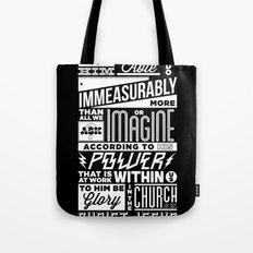 Eph 3:20 Tote Bag