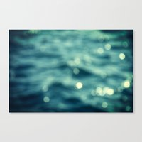 Bokeh Water Canvas Print