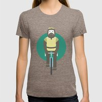 Cyclesquatch Womens Fitted Tee Tri-Coffee SMALL
