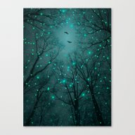 Silently, One By One, Th… Canvas Print