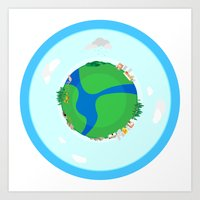 Nano Planet Art Print
