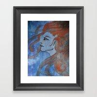Doused In Flame Framed Art Print