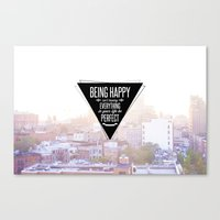Being Happy Canvas Print
