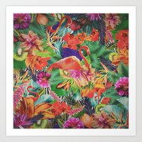 TROPICAL LOVE Art Print
