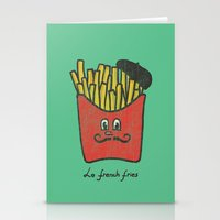 french Stationery Cards featuring French Fries by Picomodi