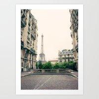 That Midnight in Paris street Art Print