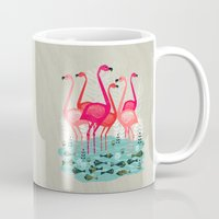Flamingos By Andrea Laur… Mug