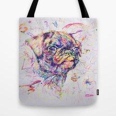 Pug Dog // Pugression Tote Bag