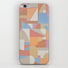 1 Inch Manila Grid iPhone & iPod Skin
