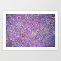 Lavender Haze Abstract P… Art Print