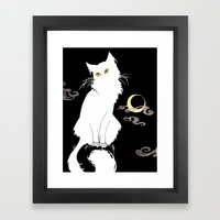 Le Chat Blanc Framed Art Print
