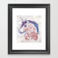 War Unicorn Framed Art Print