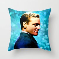 James Cagney, blue screen Throw Pillow