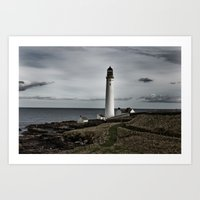 Scurdieness Lighthouse, Montrose, Scotland Art Print
