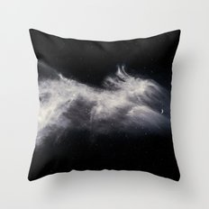 Moon and Clouds Throw Pillow