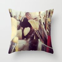 Paintbrush Heaven Throw Pillow