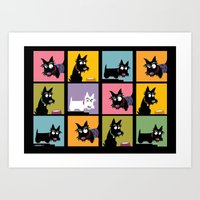 Different Scottie Art Print