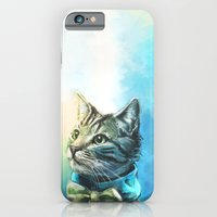 cat iPhone & iPod Cases featuring Handsome Cat by Alice X. Zhang