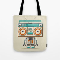 Music Robot Tote Bag