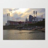 Cincy River Boat Canvas Print
