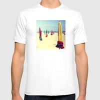 PARASOLS A DEAUVILLE Mens Fitted Tee White SMALL