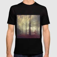 Twins Or Smokey Forest Mens Fitted Tee Black SMALL
