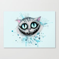 Cheshire Watercolor  Canvas Print