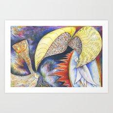 Fiery Furnace (by Trudy Creen) Art Print