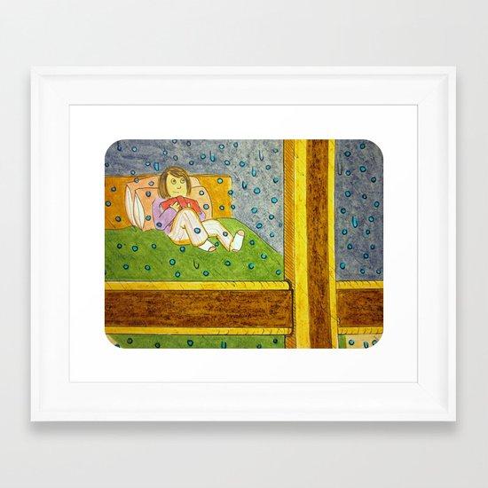 """Raindrops on the Window"" Framed Art Print"