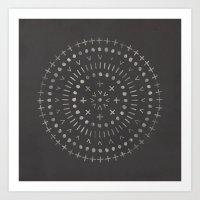 Radial - In Slate Art Print