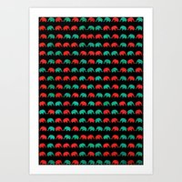 Elephants B Art Print