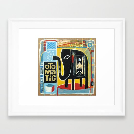Otomatic Wash Framed Art Print