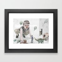 Invasion of the party pooper Framed Art Print
