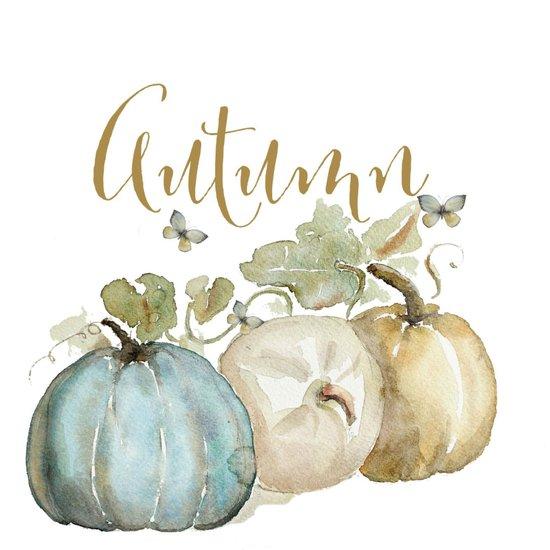 Autumn Pumpkins Art Print By Craftberrybush