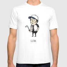 The Walking Dead, Glenn Rhee Mens Fitted Tee SMALL White