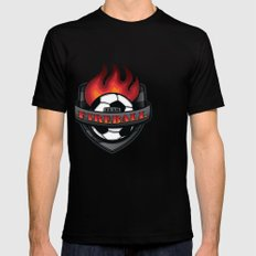 Team Fireball Mens Fitted Tee SMALL Black