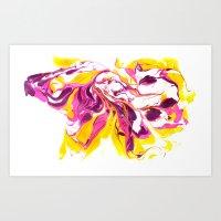 Marbling #2 Art Print