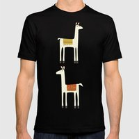 Everyone lloves a llama Mens Fitted Tee Black SMALL