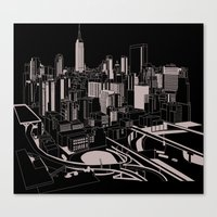 New York Black and White Canvas Print