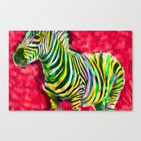 Mr. Zebra Canvas Print