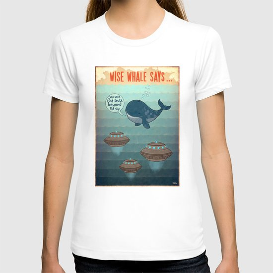 wise whale says T-shirt
